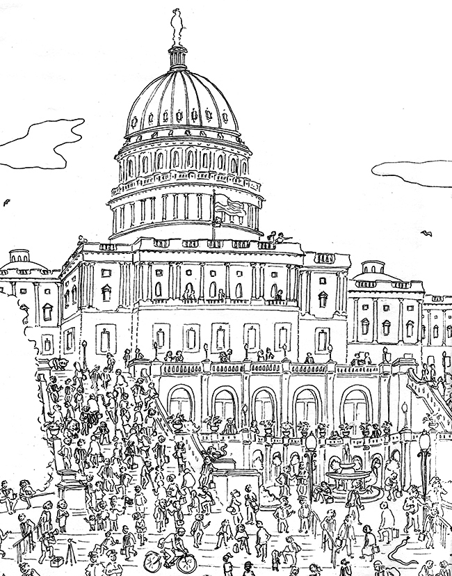coloring pages of capitol building - photo#11