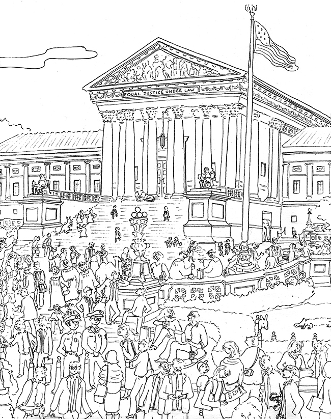 courthouse coloring pages - photo#11
