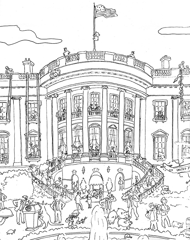 Coloring book White House